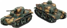 WWII French Renault AMR-35 ZT2 and ZT3
