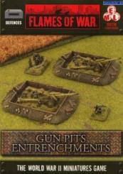 Battlefield in a Box : WWII Entrenchments - Gun Pit Markers