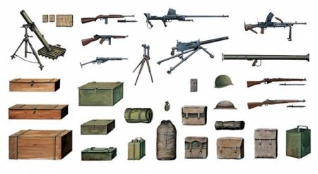 WWII Accessories (Guns, Crates, Bags, etc.)