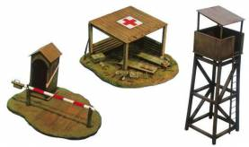 WWII Battlefield Buildings (First-Aid Post, Checkpoint & Tower)