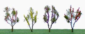 Flowering Trees - Small - Red, Pink, Yellow, Purple (48 per pkg)