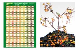Multi-Scale Typical Autumn Yellow-Red Small Leaves (Colored Paper)
