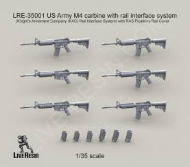 US Army M4 Carbine Machine Gun with Closed Rail Interface System