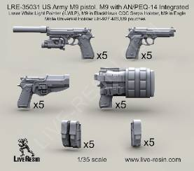US Army Various M9 Pistols , AN/PEQ14 Integrated LWLP & Holsters/Pouches
