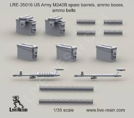 US Army M240B Spare Barrels, Ammo Boxes and Belts