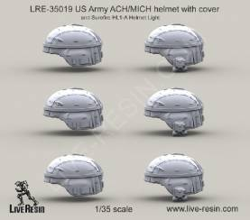 US Army ACH MICH Helmet with Cover and Surefire HL1 Helmet Light