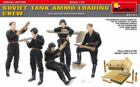 WWII Soviet Tank Ammo Loading Crew (5) w/Ammo Boxes & Shells (Special Edition)