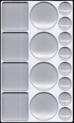 16 Well Palette - Rectangle
