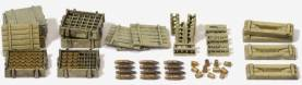 Ammo & Ammo Crates for 10.5cm leFH18 Lt Field Howitzer German Reich 1939-45