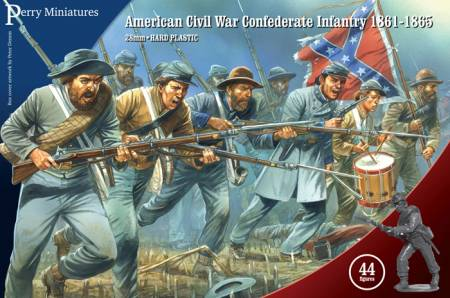 Perry Miniatures American Civil War Confederate Infantry 1862-1865