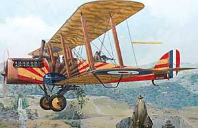 WWI British De Havilland DH4 with Puma Engine