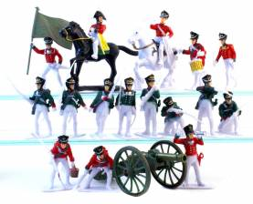Napoleonic Russian Infantry- Painted Plastic