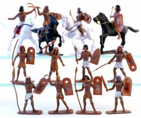Ancient Egypt Soldiers- Painted Plastic