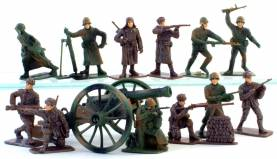 Russian WWII Infantry- Painted Plastic