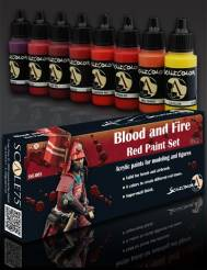 Scale Color- Blood And Fire Red Paint Set