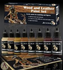 Scale Color- Wood And Leather Paint Set