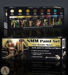 Scale Color- NMM (Non Metallic Metal) Gold and Bronze Paint Set