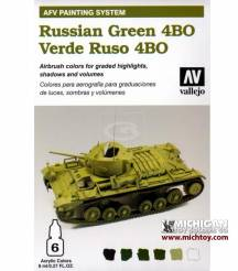 Vallejo AFV Armour Painting System: Russian Green 4BO