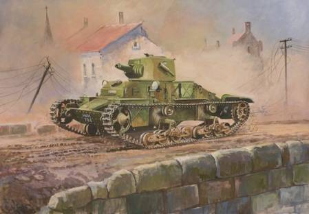 WWII British British Light Tank Matilda Mk. I ~ Snap Kit