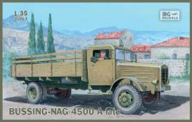 German WW2 Bussing-Nag 4500A Late Stake Body Truck