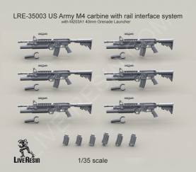 US Army M4 carbine with M203A1 40mm Grenade Launcher