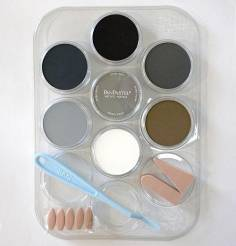 Weathering Color Kit Grey, Grime and Soot  (7- 9ml pan colors, tray, tools)