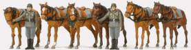 German Reich Draught Horses & Soldiers