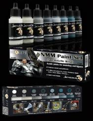 Scale Color- NMM (Non Metallic Metal) Paint Set