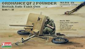 Ordnance QF 2-Pdr Mk IX Carriage Mk II British Anti-Tank Gun