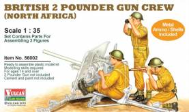 British 2-Pdr Gun Crew North Africa