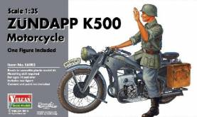 Zundapp K500 Motorcycle with Figure