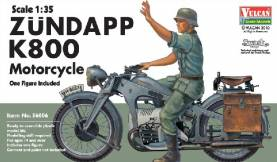 Zundapp K800 Motorcycle with Rider