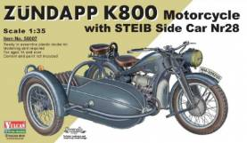Zundapp K800 Motorcycle with STEIB Nr28 Sidecar