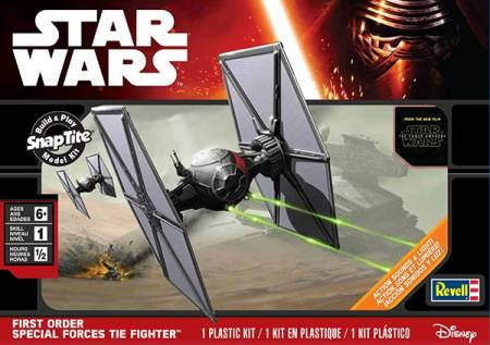 Star Wars The Force Awakens: First Order Special Forces Tie Fighter w/Sound & Lights (Snap)