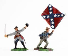 W Britains 17111 Confederate Command Set 57th Virginia-OOP 1 available