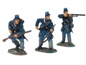 W Britain First Gear Union Volunteer Infantry Firing Line Set 1 #17663- OOP 1 Available