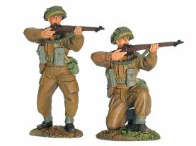 W Britain First Gear Breakout Normandy 1944 British Infantry Firing Set 1 #17876- OOP 1 Available