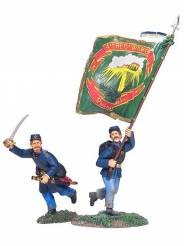 W Britain First Gear Union Irish Brigade Command Set 2 #17933 NIB- OOP 1 Available