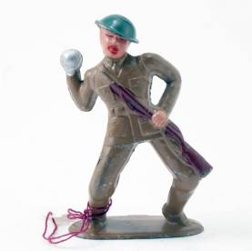 Barclay Soldier Throwing Grenade