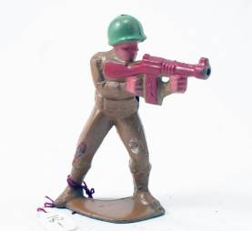 Manoil Soldier With Tommy Gun
