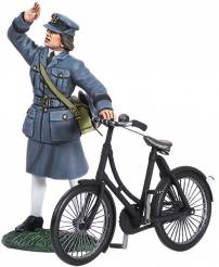 W Britain First Gear WWII WAAF With Bicycle 1943 #25018 NIB- OOP 1 Available