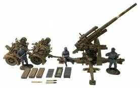 German 88mm Flak 36, Dual Purpose Gun with 3 Man Crew