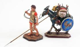 Greek Hoplite With Pack Mule 3108/3130
