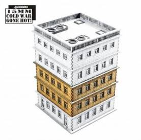 15mm Cold War Gone Hot: Tennament Block 2 Add-on (extra floors)