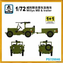 WWII US Willys MB & Trailer