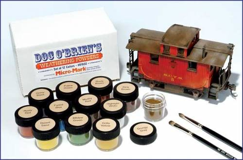 Doc OBriens Weathering Powders - ZOOM in