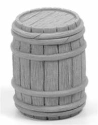 Wooden Barrel - Half Closed