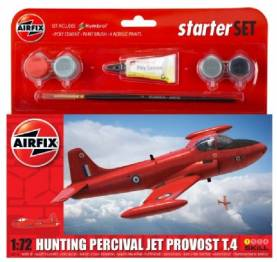 Hunting T4 Percival Jet Provost Aircraft Small Starter Set w/paint & glue