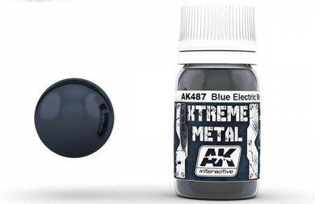Xtreme Metal Blue Electric Metallic Paint 30ml Bottle