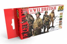 Figure Series: WWII British Uniform Colors Acrylic Paint Set (6 Colors) 17ml Bottles